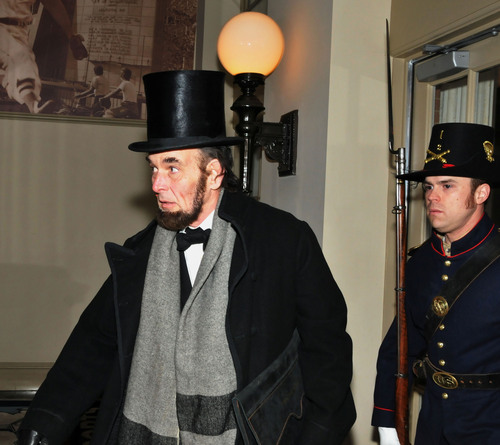 Lincoln's secret passage through Baltimore re-created to kick off 150th anniversary of the Civil War events.  (PRNewsFoto/Visit Baltimore)