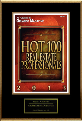 """Brian Chisholm Selected For """"Hot 100 Real Estate Professionals"""". (PRNewsFoto/American Registry) (PRNewsFoto/AMERICAN REGISTRY)"""