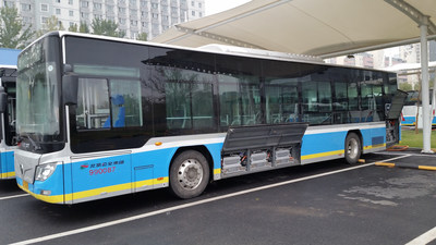 Foton electric bus equipped with Microvast LpCO(R) battery system