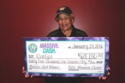Table Mountain Casino's Massive Cash Jackpot Winner Evelyn