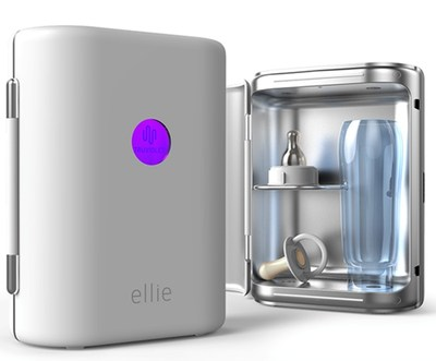Ellie, the world's first portable UV LED baby bottle sterilizer, uses RayVio's new XE Series UV LEDs.