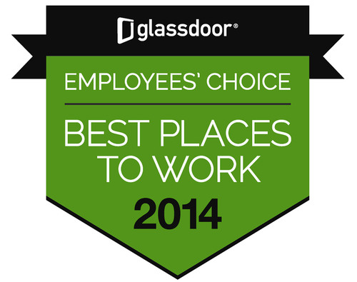 Logo: Glassdoor Employees' Choice Best Places to Work 2014.  (PRNewsFoto/Nestle Purina PetCare Company)