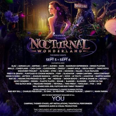 Insomniac Announces Lineup For The 19th Annual Nocturnal Wonderland Festival (PRNewsFoto/Insomniac)