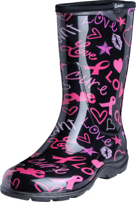 Sloggers Breast Cancer Awareness HOPE Print in their Waterproof Boots and Shoes