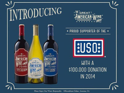 The Great American Wine Co. launches with a $100k donation to the USO to help support our troops.