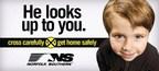 Billboards remind Indiana residents to cross railroad tracks carefully and return home safely.