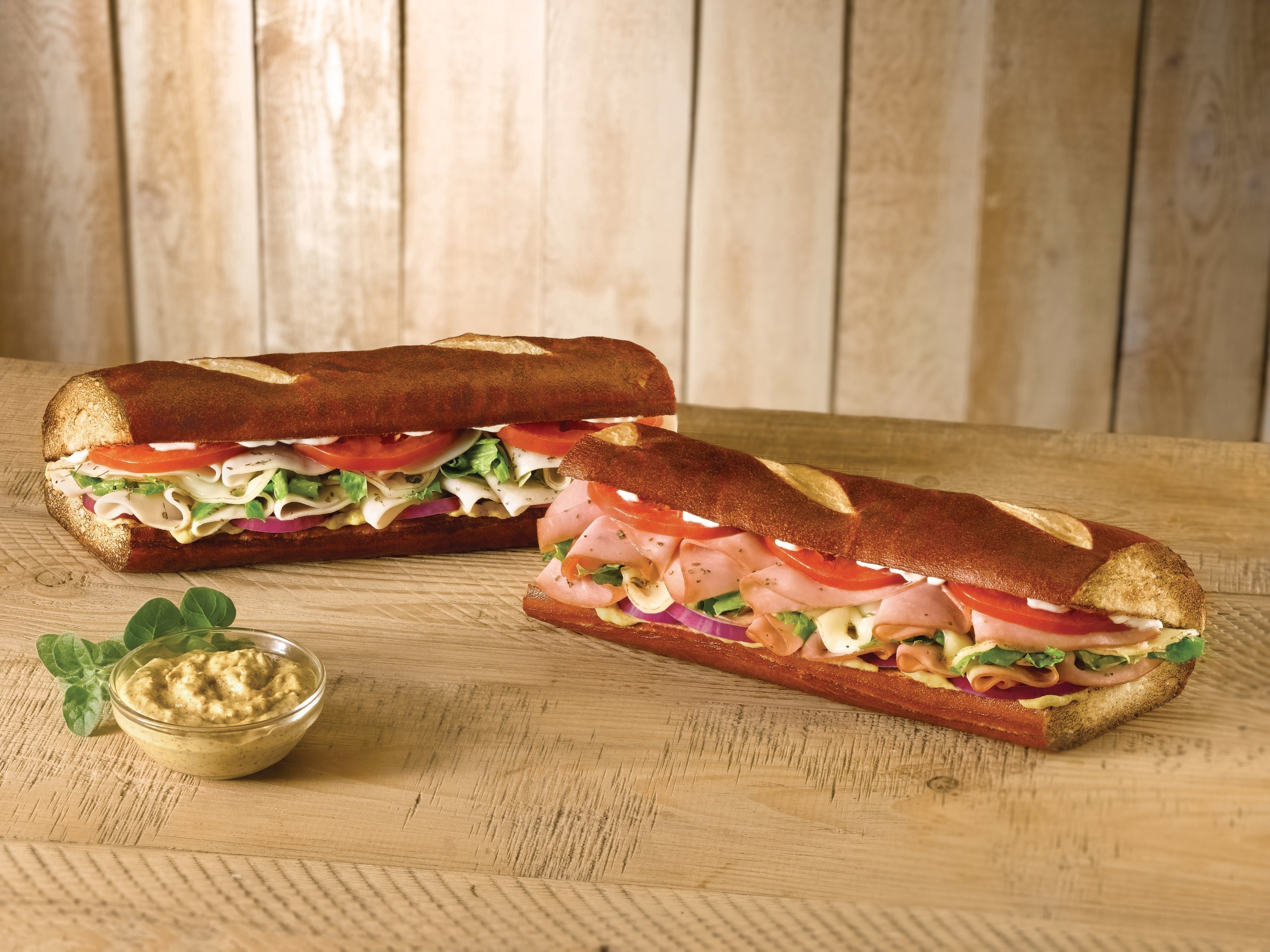 Quiznos Launches New Pretzel Bread Menu Offerings Ham On And Turkey