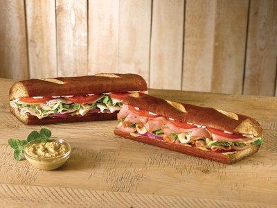 Quiznos launches new pretzel bread menu offerings, Ham on Pretzel Bread and Turkey on Pretzel Bread.