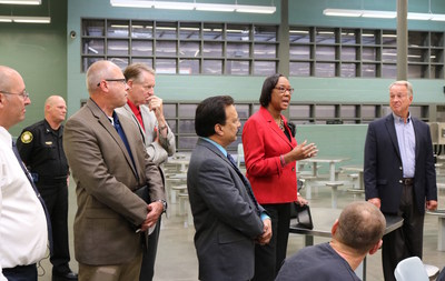 The City-County National Task Force on the Opioid Epidemic tours the Kenton County Detention Center in Covington, Kentucky, on August 19, 2016. Photo Credit: Tom Martin