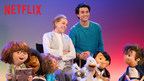 Netflix, the world's leading Internet TV network, announced today that award-winning actress Julie Andrews will star in Julie's Greenroom, a new preschool show from The Jim Henson Company that features an all-new puppet cast of kids learning about the performing arts. Theseries will be available exclusively to Netflix members globally in early 2017. From left; Yomo, Bingo, Fizz, Julie Andrews, Gus (Guillian Yao Gioiello), Toby, Hugo, Nimble and Hank, shown. (Photo: Ali Goldstein/Netflix)