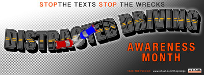 U-Haul Wants You to Stop Texting and DrivingApril is Distracted Driving Awareness Month.  (PRNewsFoto/U-Haul)