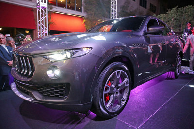More than 500 VIP guests joined Maserati Fort Lauderdale as it presented the official unveiling of the highly-anticipated new Maserati Levante SUV in South Florida during a private outdoor reception on April 14, 2016 at downtown Las Olas hotspot, YOLO.
