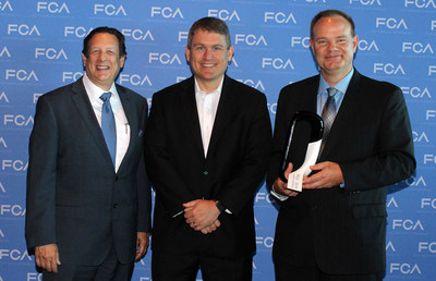 Pictured (left to right): Mike Martini, President, Original Equipment, U.S. and Canada Consumer Tire Sales Division, Bridgestone Americas Tire Operations; Scott Thiele, Global Purchasing Officer, FCA NV and Head of Purchasing and Supplier Quality, FCA  North America and Dale Ray, Senior Director, OE Account Management, Bridgestone Americas Tire Operations