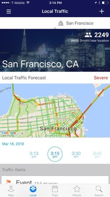New INRIX Traffic Mobile App First to Learn Driving Habits to Take the Guesswork Out of When to Leave and How to Get There