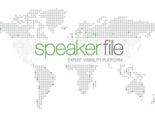 Speakerfile is an expert visibility platform that profiles speakers, authors, and subject matter experts and connects them with event organizers, reports, and business prospects. Find out more at Speakerfile.com.  (PRNewsFoto/Speakerfile)