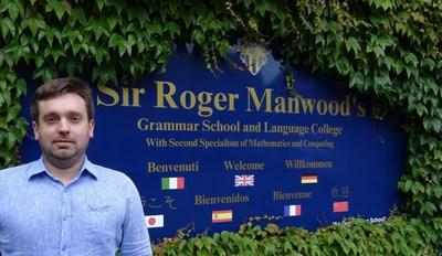 Thomas Molloy, School Business Manager at Sir Roger Manwood's School (PRNewsFoto/Vigilant Global)