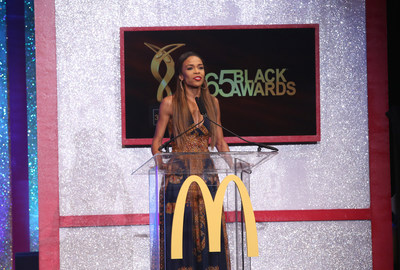NEW ORLEANS - (July 5, 2014) – Singer/actress Michelle Williams presented during the 11th annual McDonald's 365Black Awards, held at the New Orleans Theater, July 5. McDonald's 365Black Awards are given annually to salute outstanding individuals who are committed to making positive contributions that strengthen the African-American community.