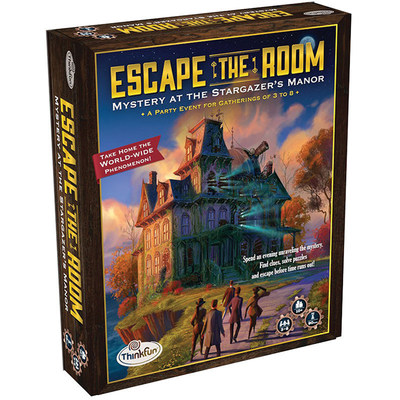 You can now have your own Escape the Room event at home, with ThinkFun, Inc.'s new game, Escape the Room Mystery at the Stargazer's Manor.