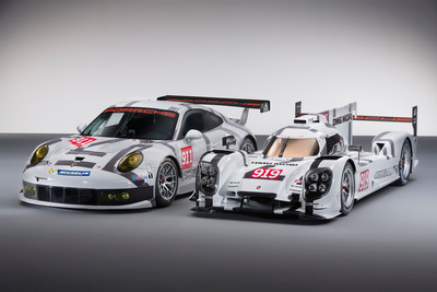 919 Hybrid and 911 RSR World Premiere at the 2014 Geneva Motor Show.  (PRNewsFoto/Porsche Cars North America, Inc.)