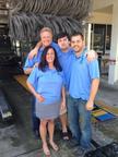 The D'Eri Family.  (PRNewsFoto/Rising Tide Car Wash)