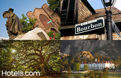 Salem, New Orleans, Charleston and Sleepy Hollow are some of the top Halloween destinations chosen by Hotels.com based on their folklore.