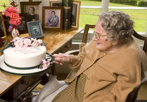Janet Roberts, the oldest woman in Scotland and a female pioneer in whisky, celebrates her 110th birthday.  ...