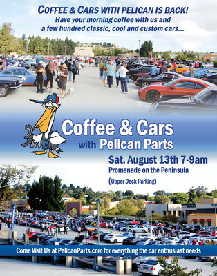 Coffee & Cars with Pelican Parts brings car enthusiasts together in southern CA to share their passion for cool cars. The summer meet-up is Sat. Aug. 13th from 7-9 at Promenade for the Peninsula. See pictures from our last event with over 500 cars of all types at http://www.PelicanParts.com/CoffeeCars
