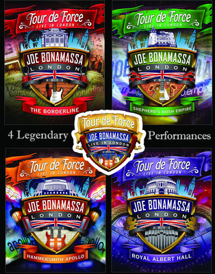 "Guitar Superstar Joe Bonamassa Releasing ""Tour De Force - Live In London"" on 4 DVDs & Blu-rays on Oct. 29.  (PRNewsFoto/J&R Adventures)"