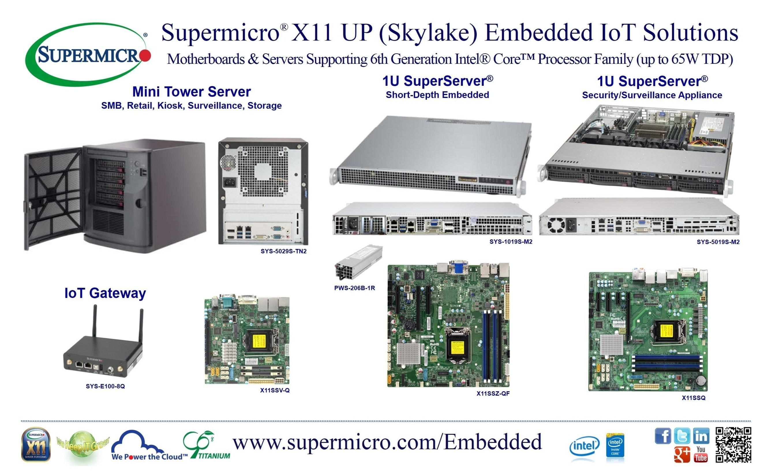 Supermicro® estrena placa base y soluciones de sistema integradas