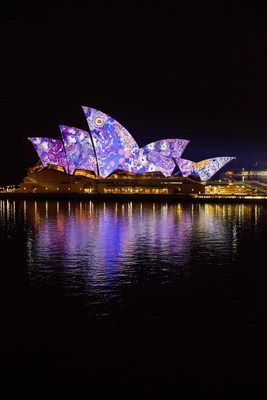 VividSydney_Songlines_Artist Gabriella Possum_credit Destination NSW
