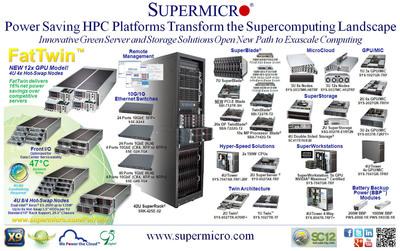 Supermicro(R) HPC SuperServer(R) Solutions Transforming the Supercomputing Landscape.  (PRNewsFoto/Super Micro Computer, Inc.)