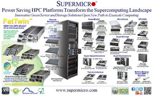 Supermicro(R) HPC SuperServer(R) Solutions Transforming the Supercomputing Landscape.  (PRNewsFoto/Super Micro Computer, Inc.)