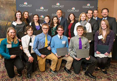 2014 Vermont Leaders and Achievers(R) Scholarship Recipients with Governor Shumlin, March 21, 2014. (PRNewsFoto/Comcast Cable) (PRNewsFoto/COMCAST CABLE)