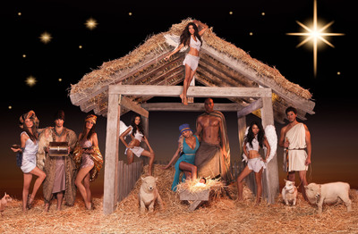 BeautifulPeople.com Nativity scene.  (PRNewsFoto/BeautifulPeople.com, Nicolaas de Bruin)