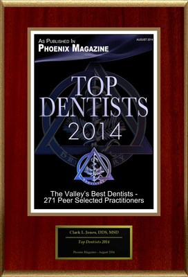 "Clark L Jones Selected For ""Top Dentists 2014"" (PRNewsFoto/American Registry)"