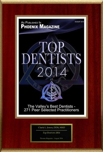 Clark L Jones Selected For 'Top Dentists 2014'