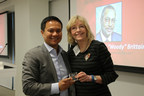 Kris Collo, CEO, President and Founder of MicroPact, accepted the Corporate Impact Award from Judy Taylor, Executive Director of The ALS Association - DC/MD/VA Chapter