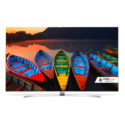 """LG Electronics USA today announced pricing and availability for its 2016 """"LG SUPER UHD TV"""" series, the company's premium line of LED-backlit LCD 4K UHD TVs, which were previewed at CES(R) 2016. Available starting this month, LG SUPER UHD TV models feature LG's most advanced LED picture quality ever and offer the first complete high dynamic range (HDR) solution with support for both DolbyVision(TM) and HDR10."""
