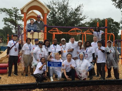 WorldVentures Independent Representatives from countries worldwide volunteer at Boys & Girls Clubs of Central Florida to kick off company's 10th anniversary UNITED conference.