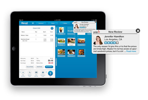 Revel Systems iPad POS Introduces Yelp Dashboard for Restaurants and Retail (PRNewsFoto/Revel Systems Inc)