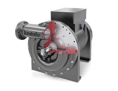 Tamturbo's direct drive, high-speed turbo compressor has raised unprecedentedly wide demand in the compressed air business worldwide. It confirms that the industry is experiencing its biggest technological change for decades. (PRNewsFoto/Tamturbo Oy)
