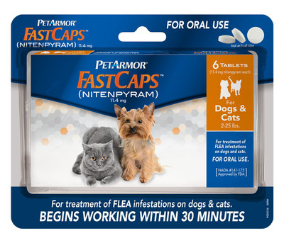 FastCaps (nitenpyram) is new from the makers of PetArmor.