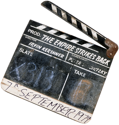 Record Breaking Star Wars Clapperboard.  (PRNewsFoto/ScreenUsed)