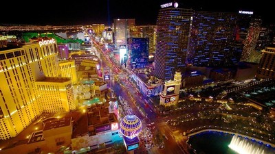 Las Vegas leads the lists of top Thanksgiving and Christmas-time destinations.