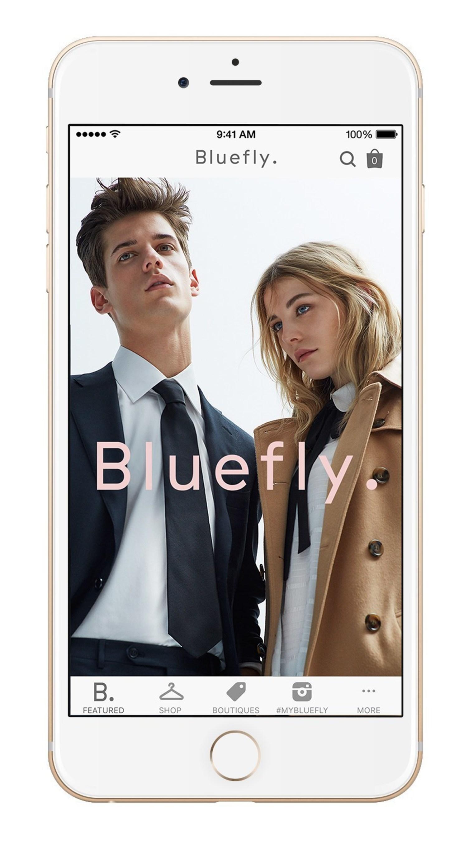 Bluefly app on iPhone