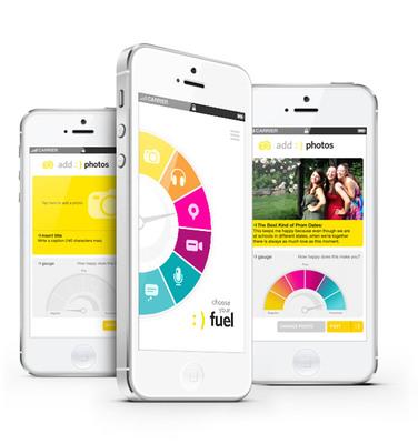 :  ) fuel (TM) happiness app.  (PRNewsFoto/Happy Fuel LLC)