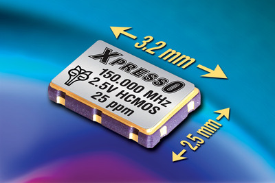 Compact XpressO XO HCMOS Oscillators from Fox Electronics Now Available in 2.5-volts