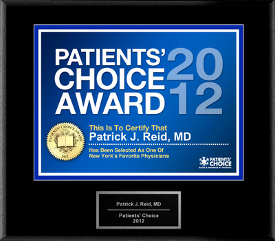 Dr. Reid of West Islip, NY has been named a Patients' Choice Award Winner for 2012.  (PRNewsFoto/American Registry)