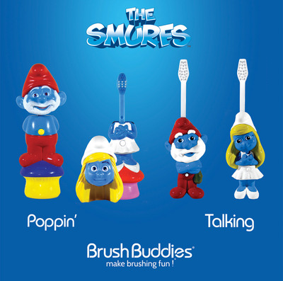 Brush Buddies Joins Forces With the Smurfs.  (PRNewsFoto/Brush Buddies)