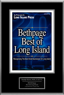 "Randy Kiewe, M.D. Selected For ""2014 Bethpage Best Of Long Island"".  (PRNewsFoto/American Registry)"